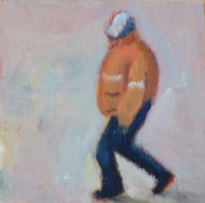 oil on wood 12x12cms approx