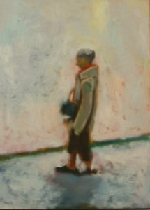 oil on wood 25x 35cms approx