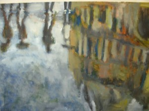 oil on canvas 50x35cms approx