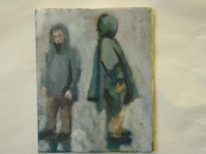 dressed for the weather - -20x25cms