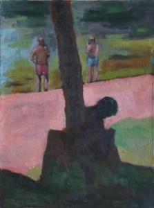 oil on canvas 22x30cms approx