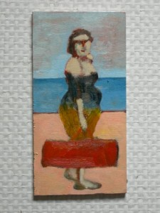 oil on wood 12x20cms approx