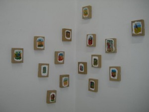 oil on cardboard boxes
