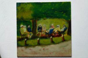 in the shade -25x25 cms